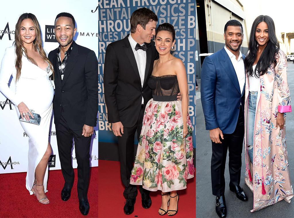 John Legend, Chrissy Teigen, Ashton Kutcher, Mila Kunis, Ciara, Russell Wilson