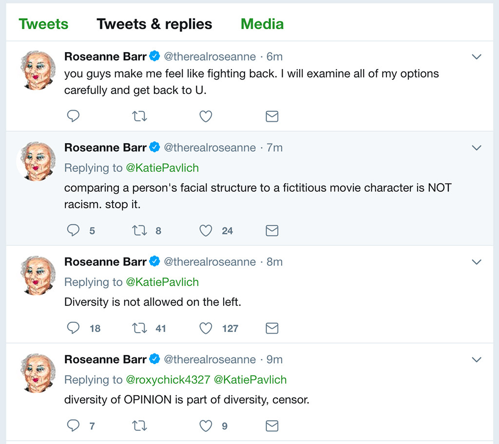 Roseanne Barr Says She Was Ambien Tweeting About Valerie ... - photo#31