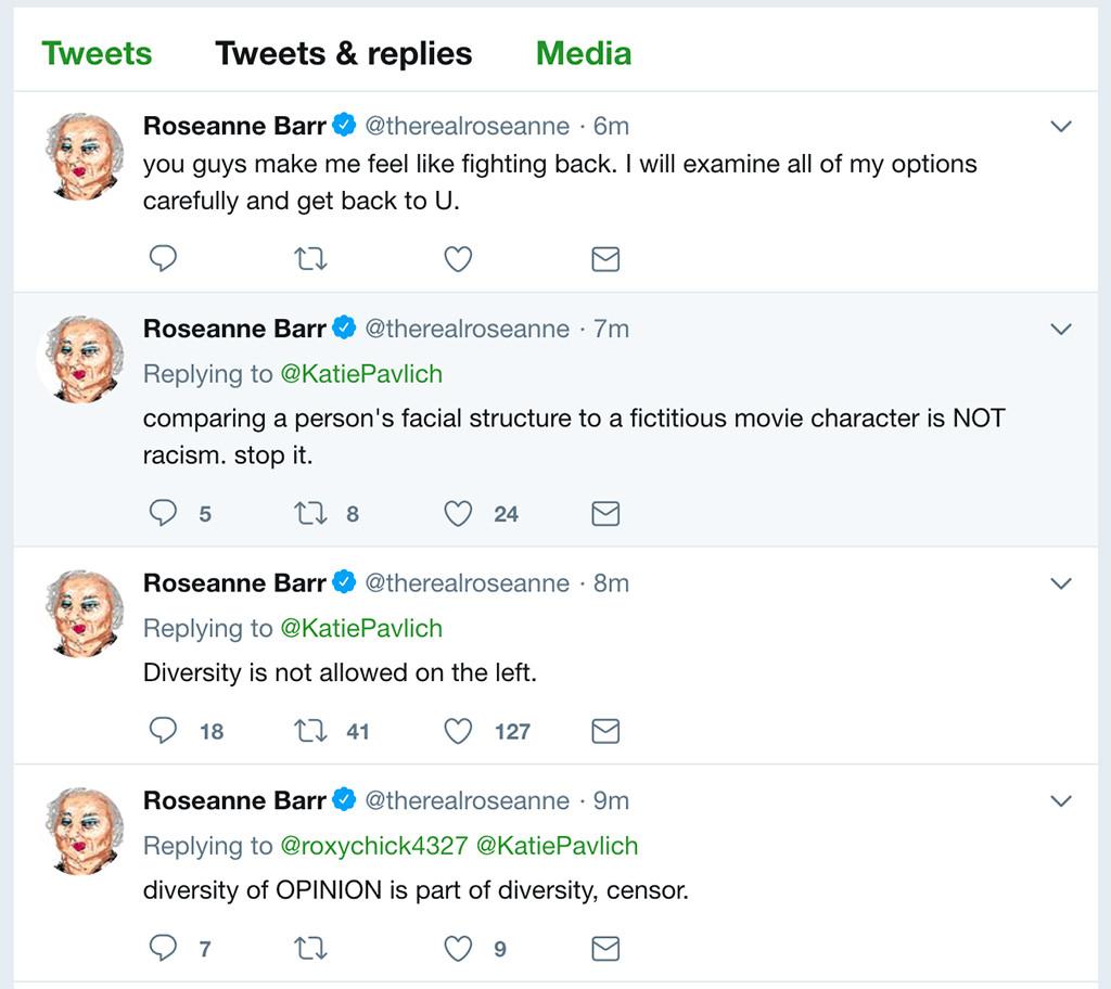 Roseanne Barr, Twitter