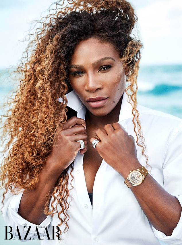Serena Williams, Swimsuit, Harper's Bazaar U.K., Juy 2018