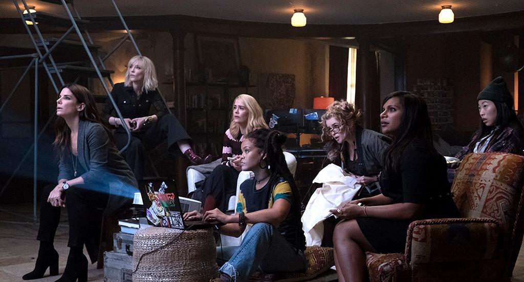 Ocean's 8, Mindy Kaling, Cate Blanchett, Awkwafina, Sandra Bullock, Rihanna, Helena Bonham Carter, Sarah Paulson
