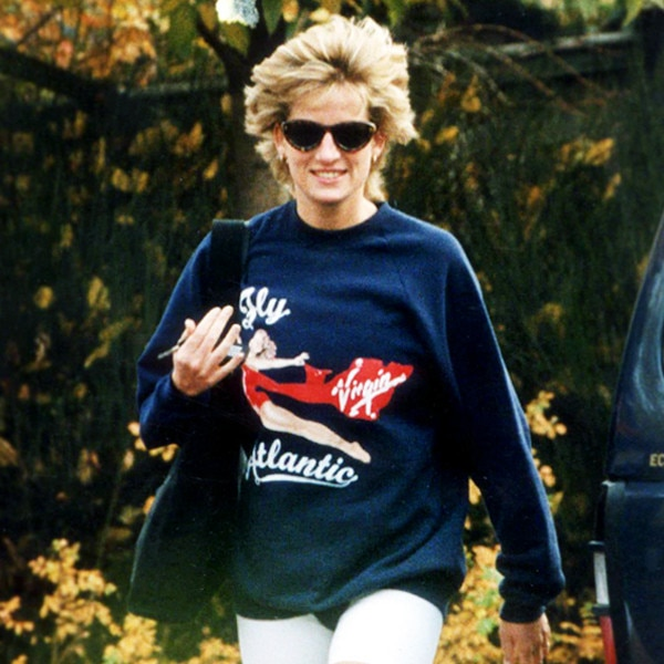 Did Princess Diana Start The Cycling Shorts Trend Kim K Loves E Online