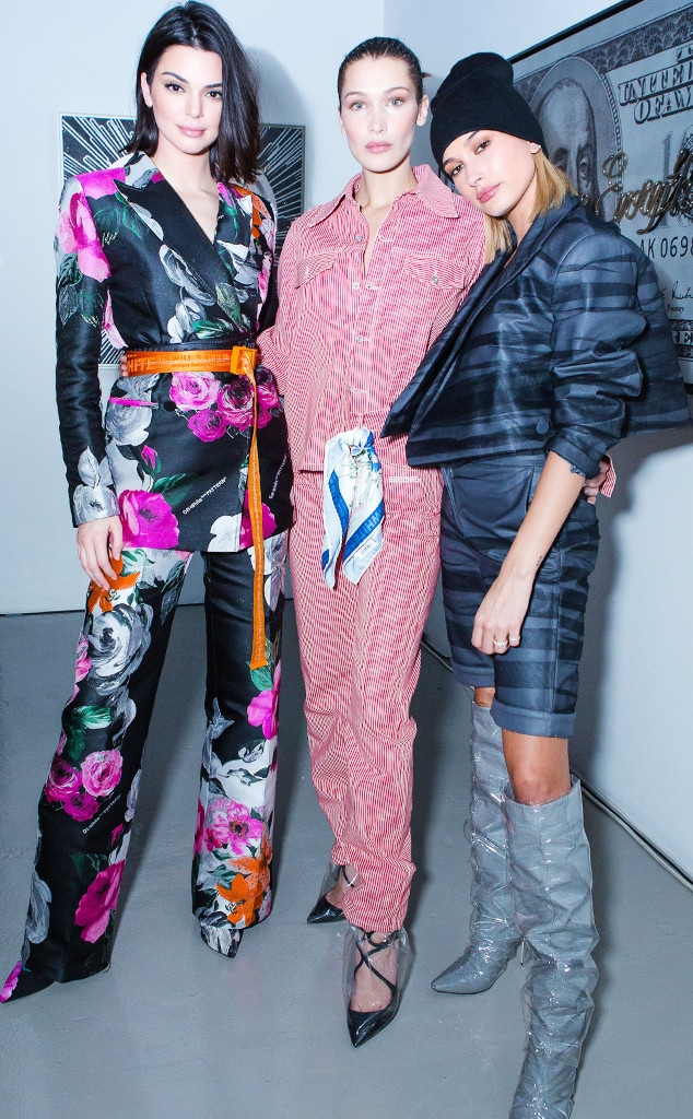 ESC: Off-White, Kendall Jenner, Kaia Gerber, Hailey Baldwin