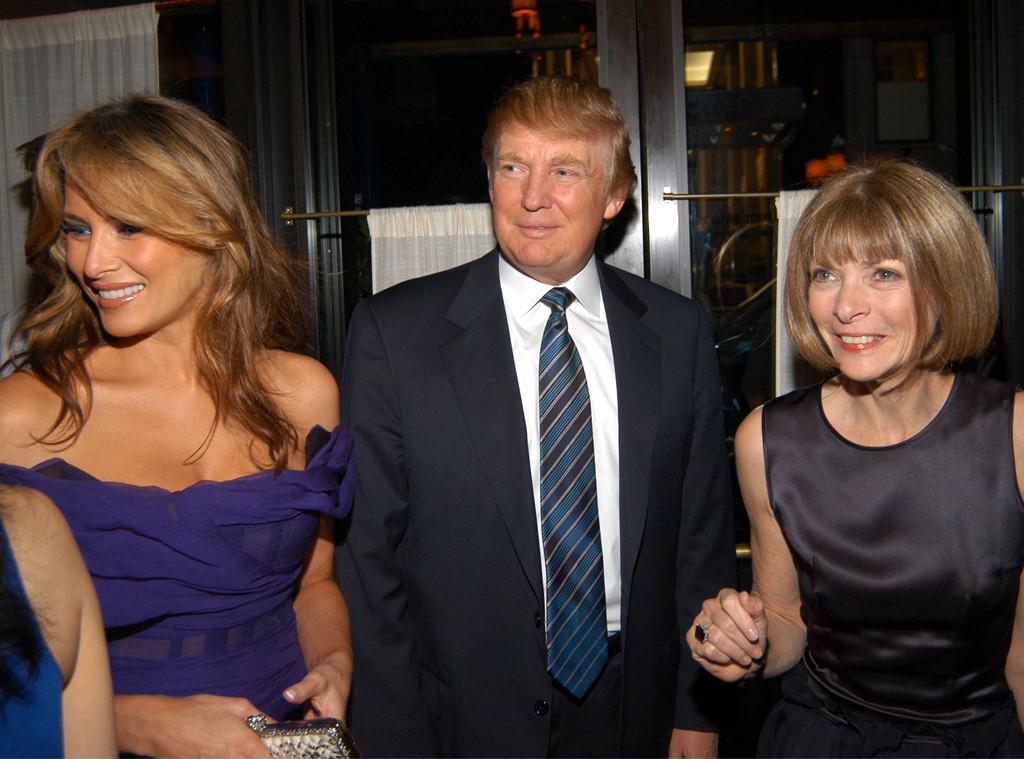 Anna Wintour, Donald Trump, Melania Trump