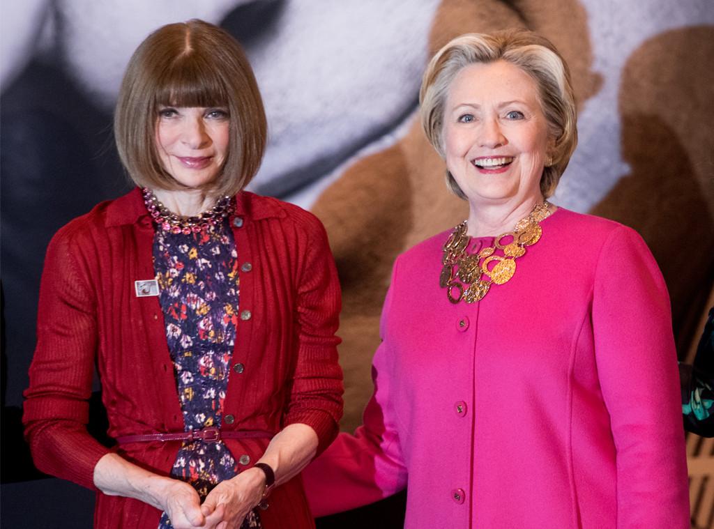 Anna Wintour, Hillary Clinton