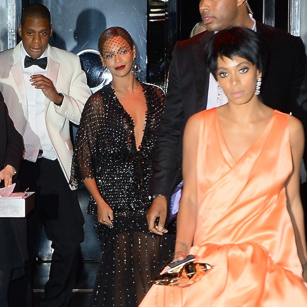 Beyonce, Jay-Z, Solange Knowles, 2014 Met Gala After Party
