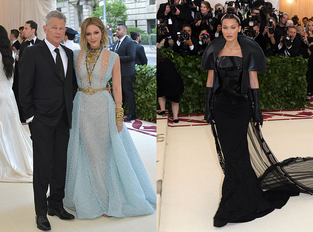 David Foster, Katherine McPhee, Bella Hadid 2018 Met Gala, Red Carpet Fashions