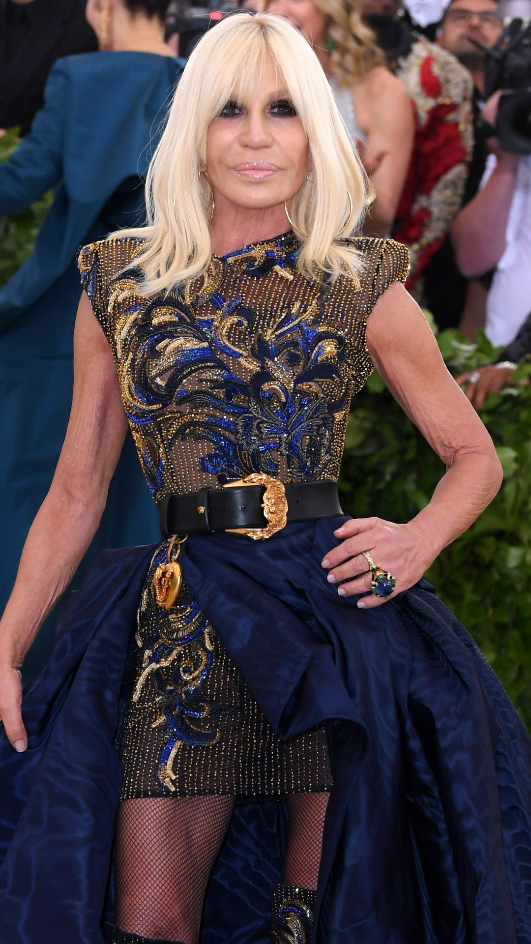 Donatella Versace, 2018 Met Gala, Red Carpet Fashions