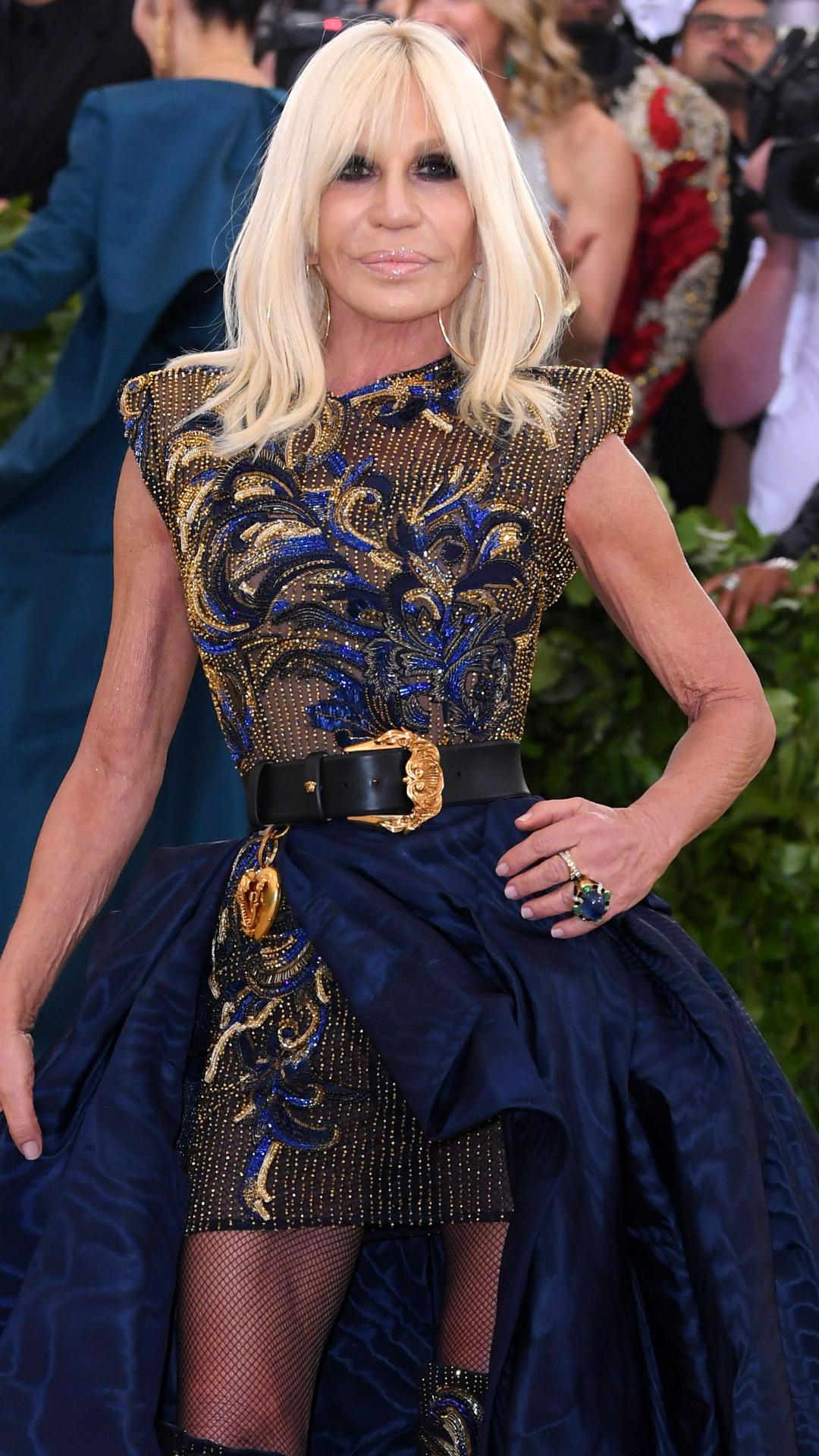 Donatella Versace, 2018 Met Gala, Red Carpet Fashions