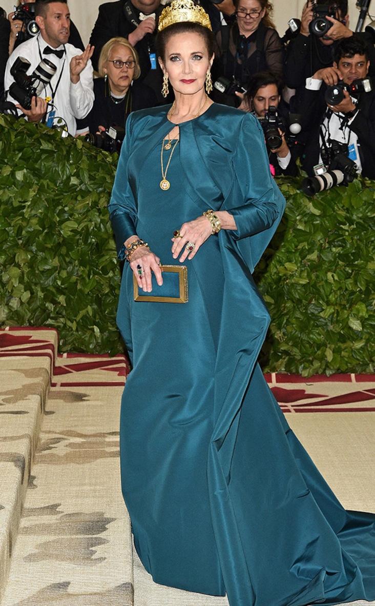 2018 Met Gala Red Carpet Fashion Lynda Carter, 2018 Met Gala, Red Carpet Fashions