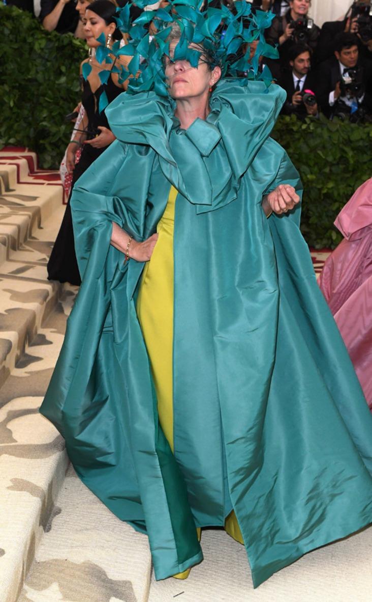 2018 Met Gala Red Carpet Fashion Frances McDormand, 2018 Met Gala, Red Carpet Fashions