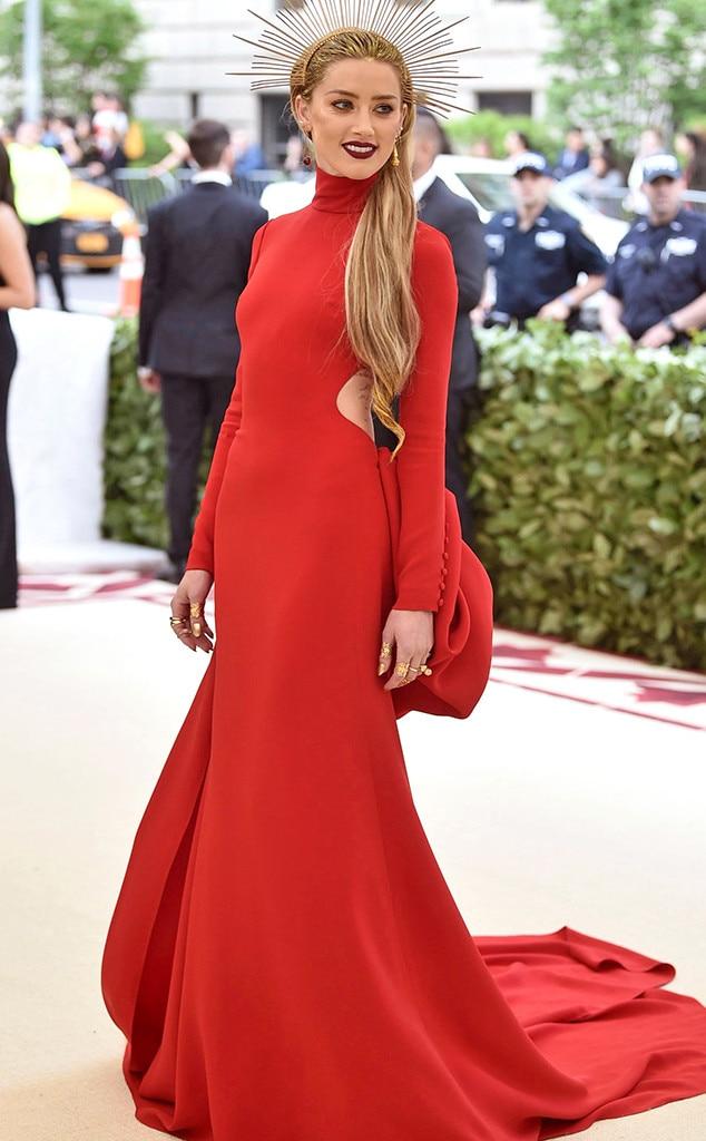 Amber Heard, 2018 Met Gala, Red Carpet Fashions