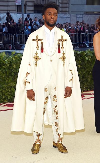 Chadwick Boseman, 2018 Met Gala, Red Carpet Fashions