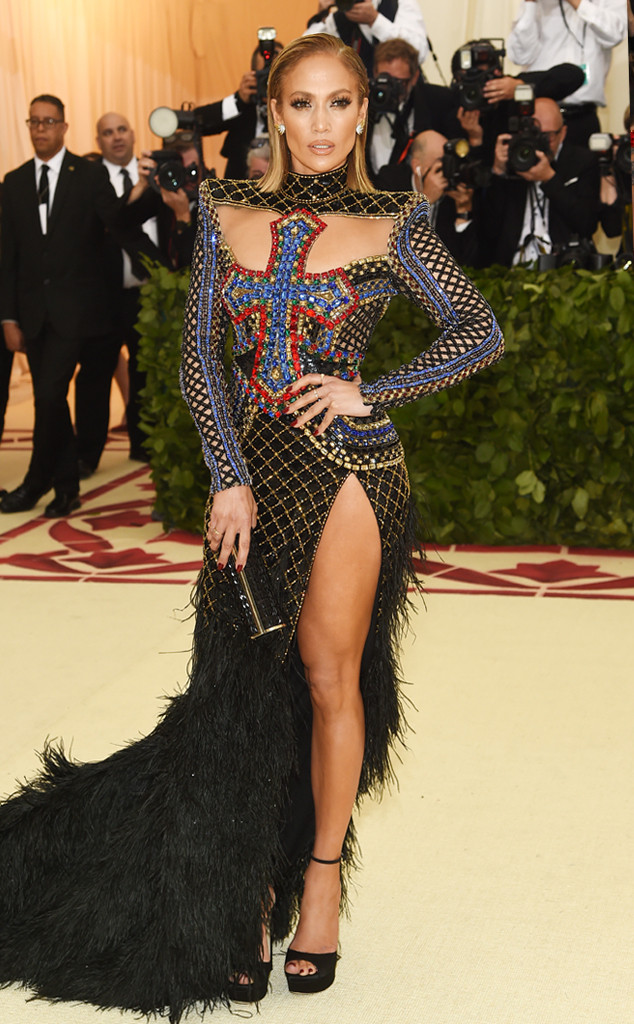 Jennifer Lopez, 2018 Met Gala, Red Carpet Fashions