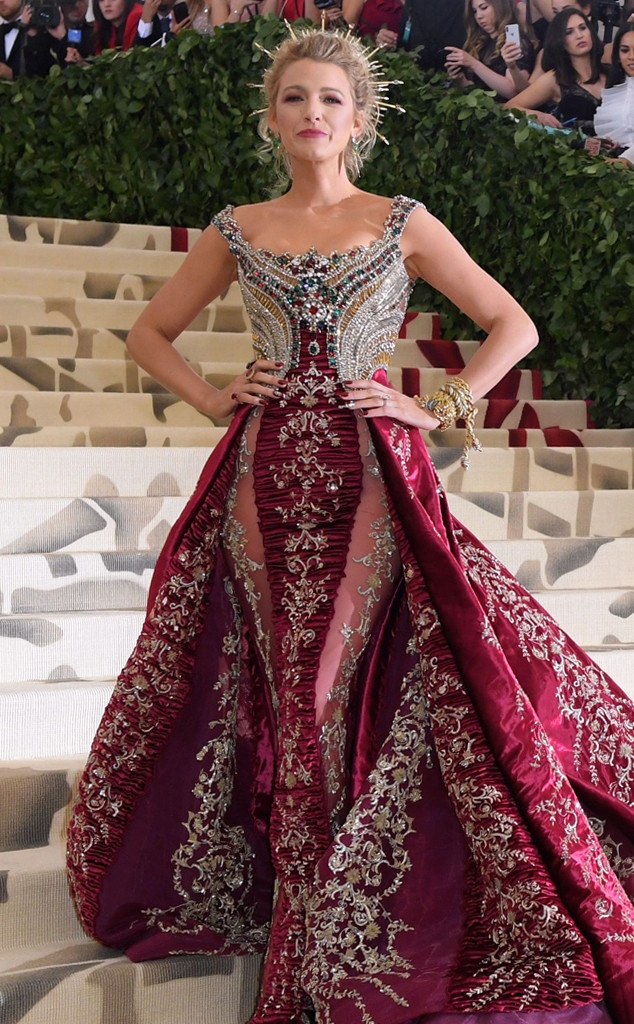 Blake Lively, 2018 Met Gala, Red Carpet Fashions