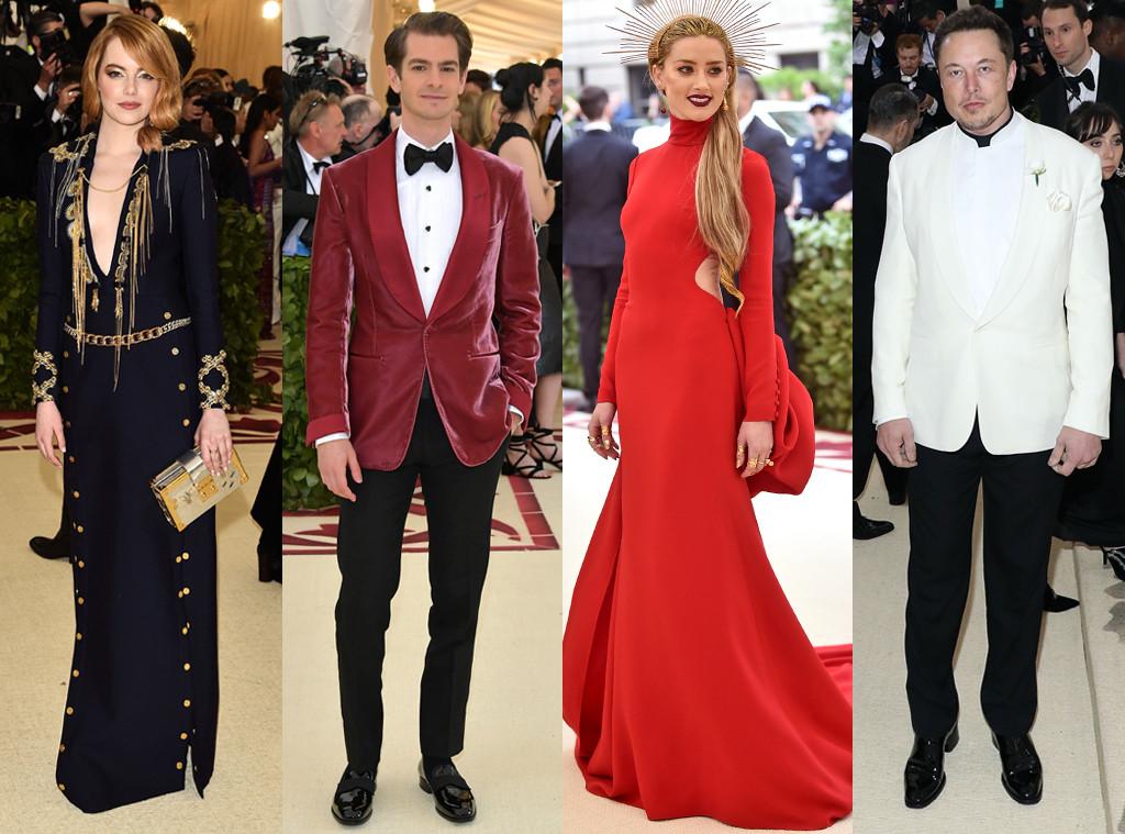 Emma Stone, Andrew Garfield, Amber Heard, Elon Musk, 2018 Met Gala Exes