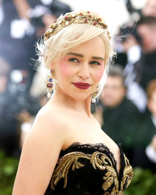 ESC: Emilia Clarke, Met Gala 2018, Head Pieces