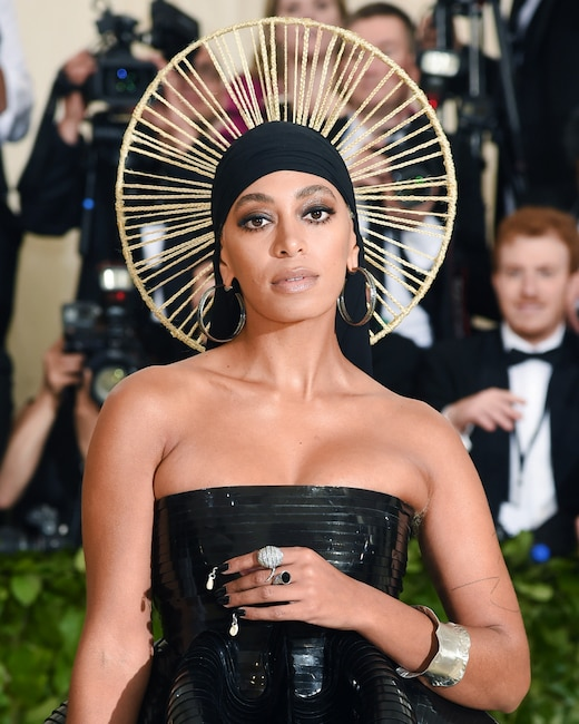 ESC: Solange Knowles, Met Gala 2018, Head Pieces