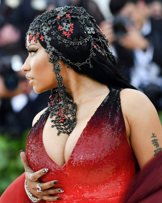 ESC: Nicki Minaj, Met Gala 2018, Head Pieces