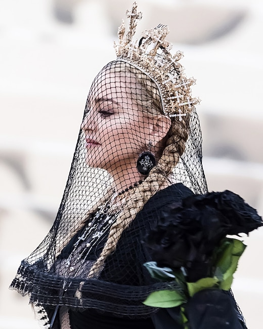 ESC: Madonna, Met Gala 2018, Head Pieces
