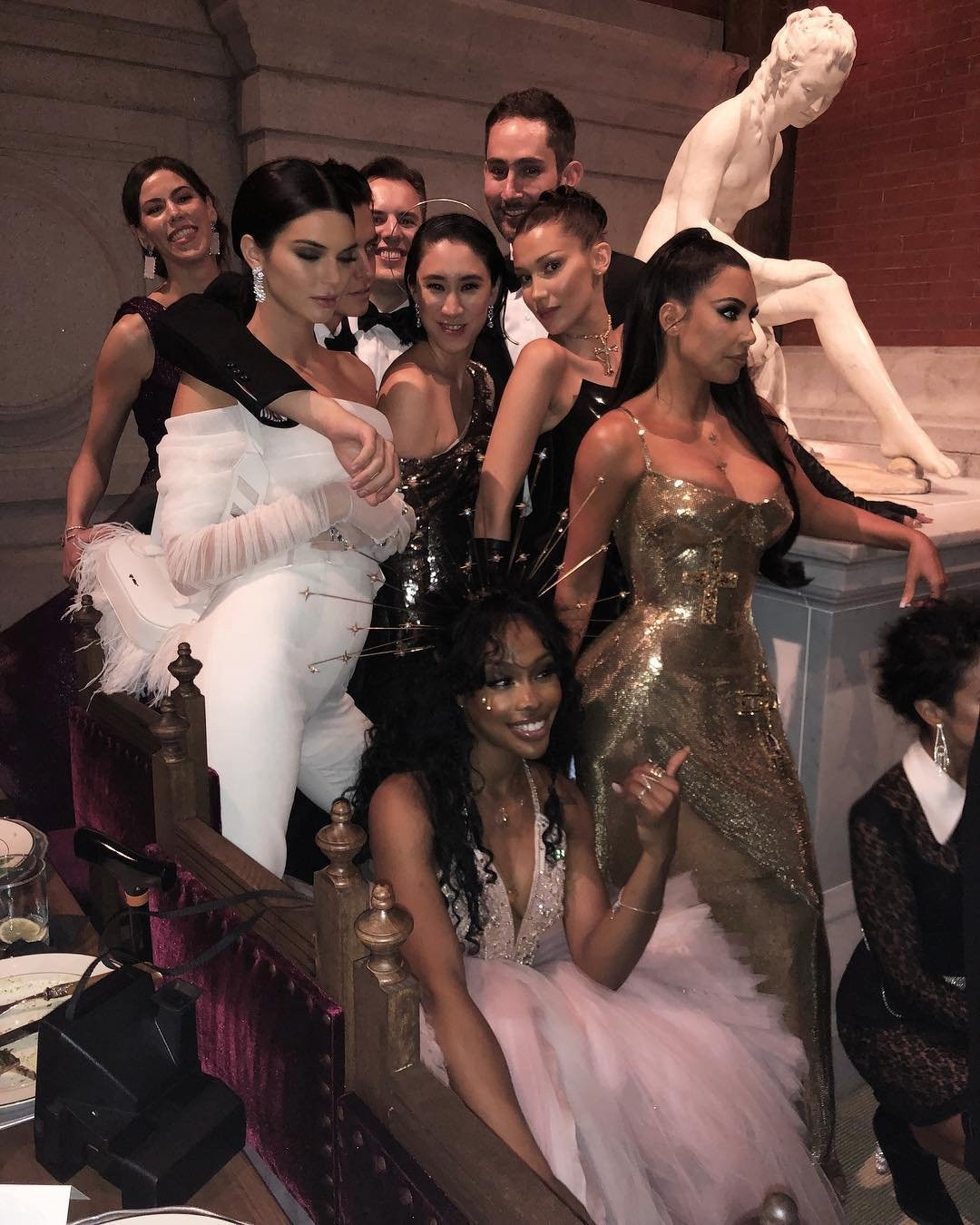 Time to Party -  Kendall Jenner, SZA, Bella Hadid, Kim Kardashian and fellow invitees get together for a photo opp.