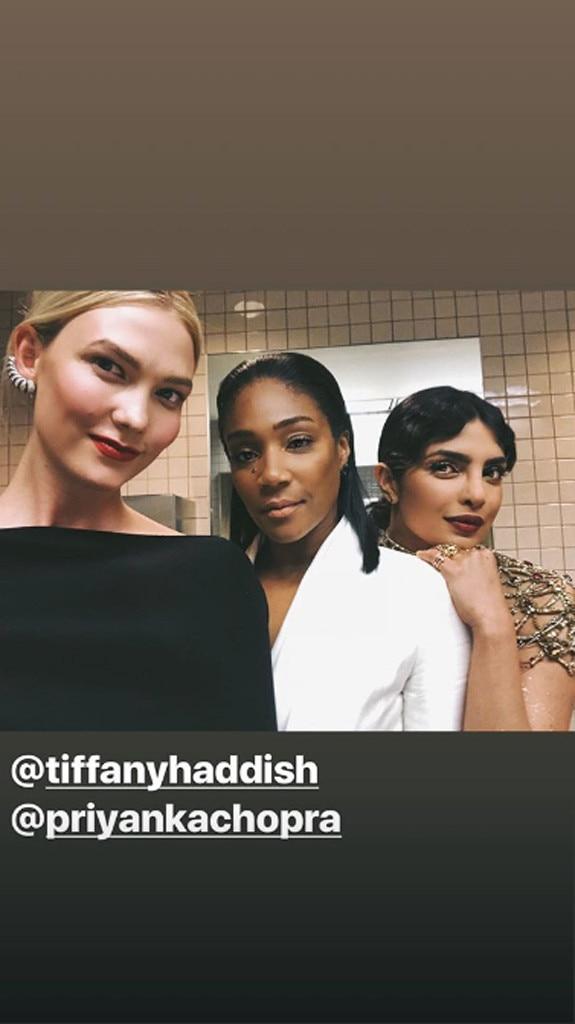 Ladies' Night -  Karlie Kloss, Tiffany Haddish and Priyanka Chopra gather in the bathroom for a selfie.