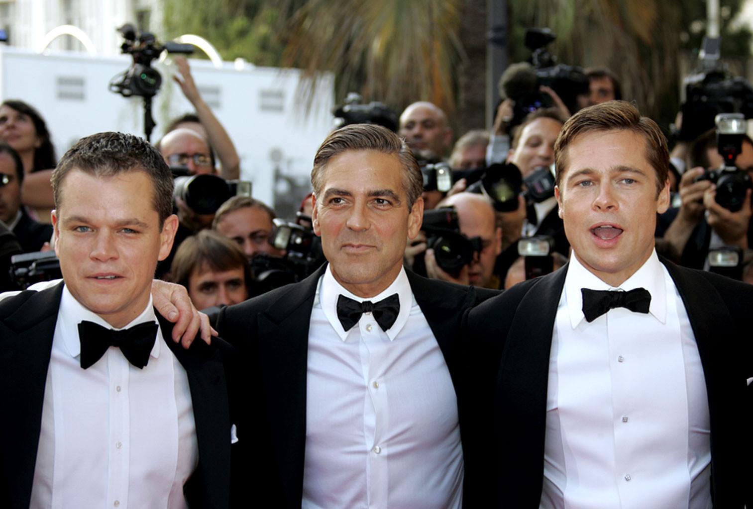 Matt Damon, George Clooney, Brad Pitt, Cannes Film Festival, 2007