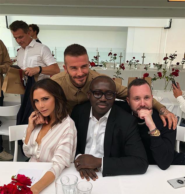David Beckham, Victoria Beckham, Edward Enninful, Kim Jones, Fashion Show
