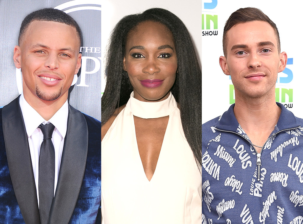 Stephen Curry, Venus Williams, Adam Rippon