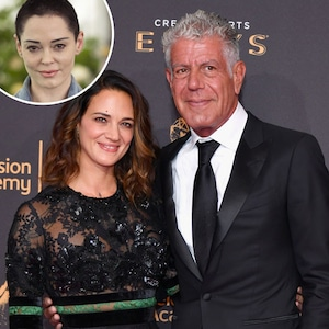 Anthony Bourdain, Asia Argento, Rose McGowan