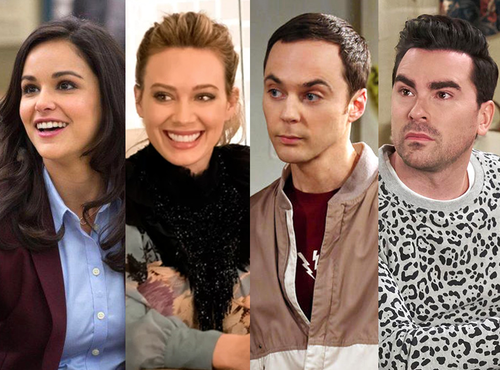 Melissa Fumero, Hilary Duff, Jim Parsons, Dan Levy, Best Comedy, TV Splits, Comedy Acting