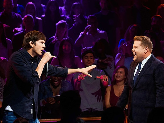 James Corden and Ashton Kutcher's Rap Battle Is Packed With Epic Burns