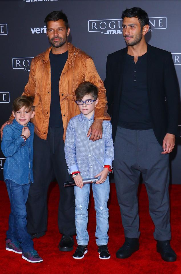 Ricky Martin, Jwan Yosef, Matteo Martin, Valentino Martin
