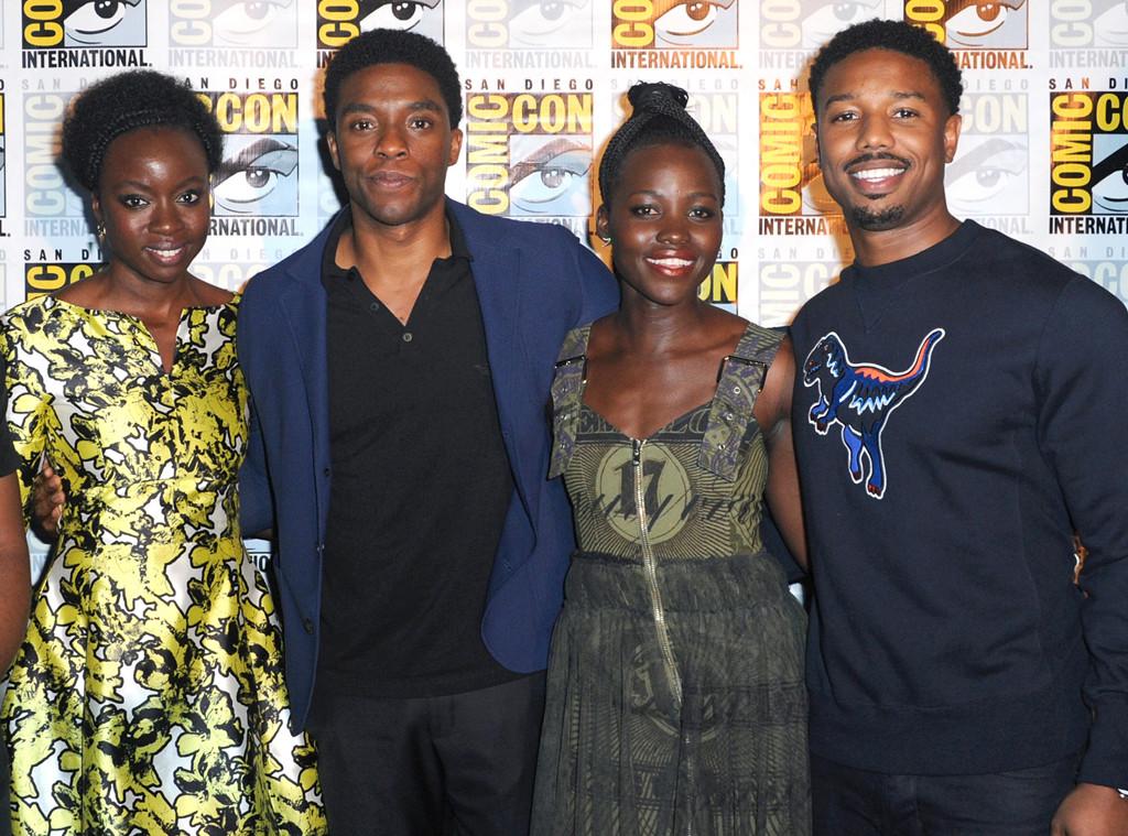 Black Panther, Danai Gurira, Chadwick Boseman, Lupita Nyong'o, Michael B. Jordan