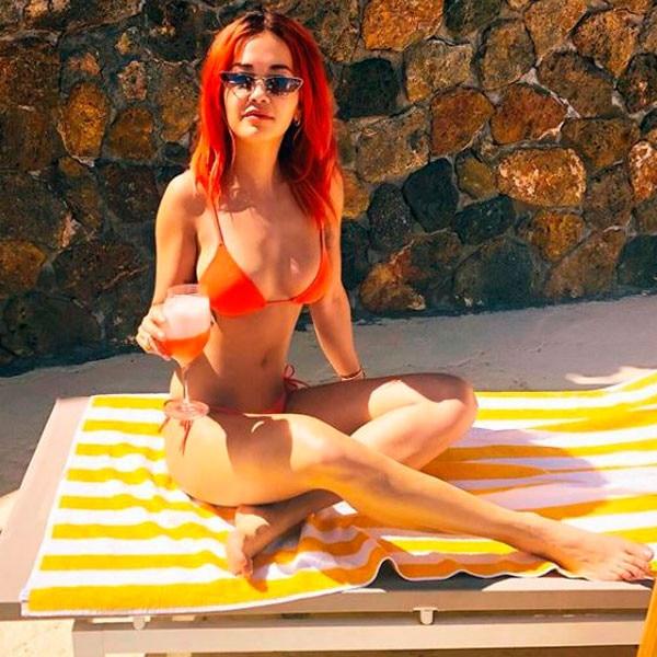 Nina dobrev bikini mistaken. something