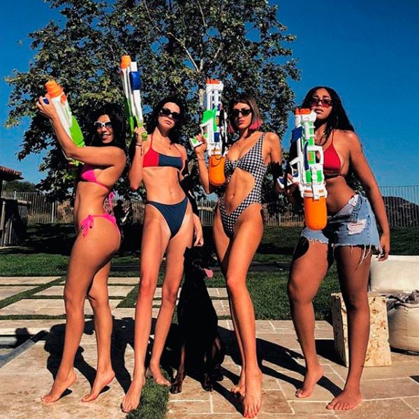 Kourtney Kardashian, Kendall Jenner, Bikini, Bathing Suit