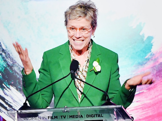 Why Frances McDormand's Green Pantsuit and Furry Sandals Work