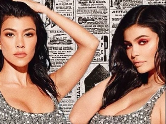 Kylie Jenner and Kourtney Kardashian Ooze Seduction in Matching Sequin Bikinis