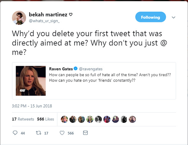 bekah and raven twitter