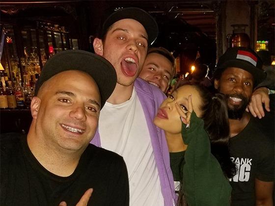 Pete Davidson and Ariana Grande Hang With John Mayer at Comedy Club