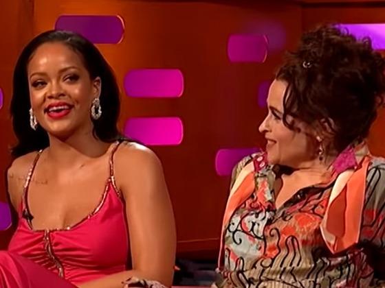 Rihanna Playfully Shades Helena Bonham Carter's Fashion to Her Face