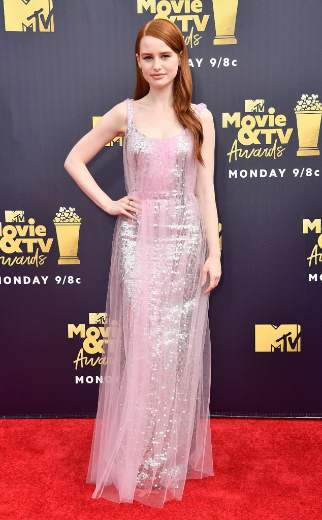 madelaine petsch from mtv movie amp tv awards 2018 red