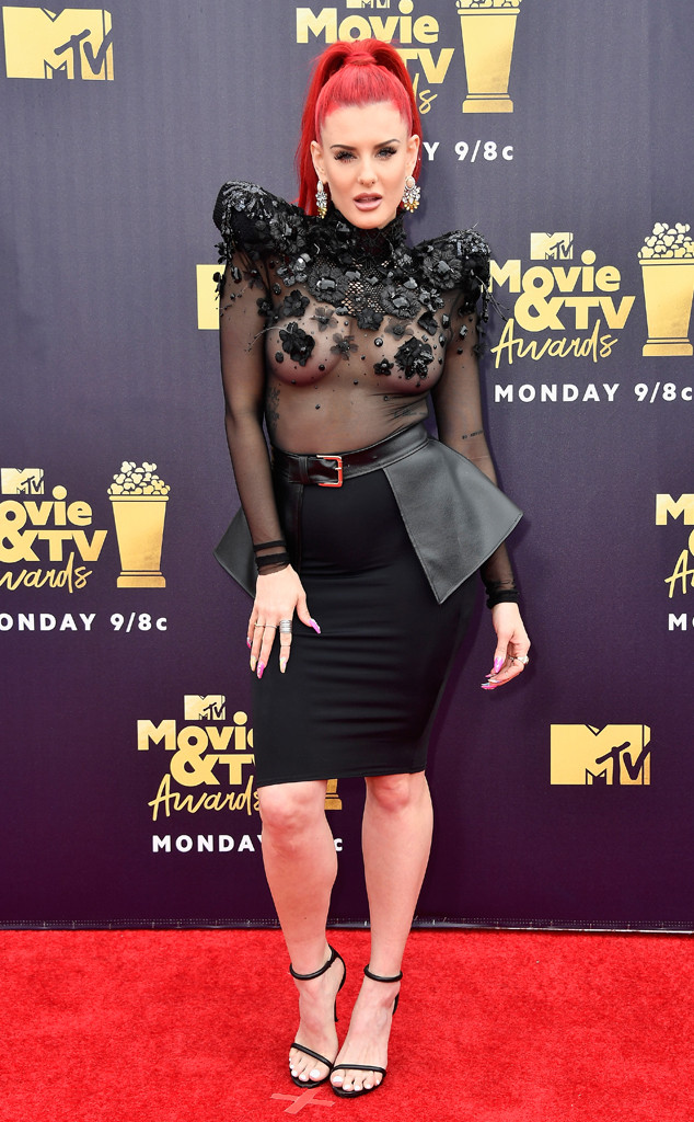 Justine Valentine, 2018 MTV Movie & TV Awards, Arrivals