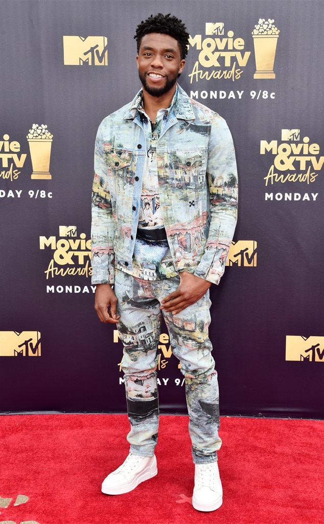 Chadwick Boseman, 2018 MTV Movie & TV Awards, Arrivals