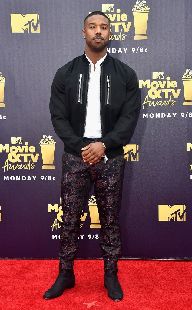 Michael B. Jordan, 2018 MTV Movie & TV Awards, Arrivals