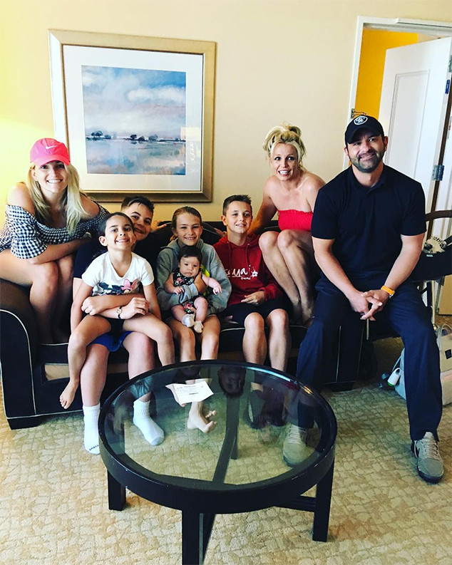 Britney Spears, Jamie Lynn Spears, Maddie, Ivey, Sean Preston, Jayden James, Bryan Spears, Kids, Brother
