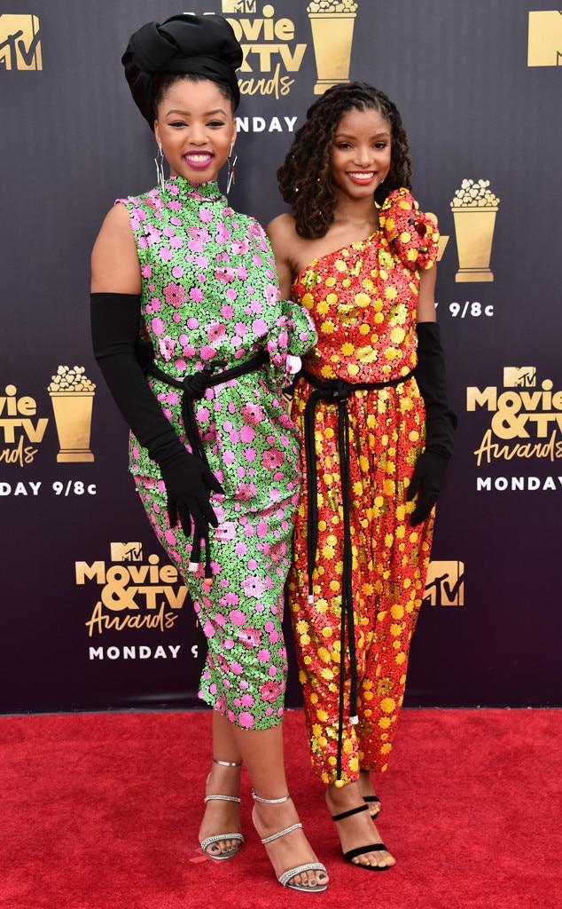 Halle Bailey, Chloe Bailey, Chloe x Halle, 2018 MTV Movie & TV Awards, Arrivals