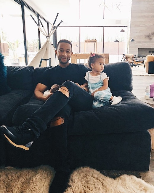 Chrissy Teigen, John Legend, Daughter, Luna, Son, Miles, Fathers Day 2018