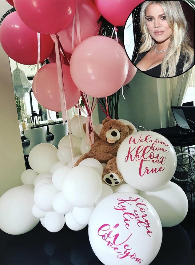 Khloe Kardashian, Father's Day 2018, Balloons, Kylie Jenner