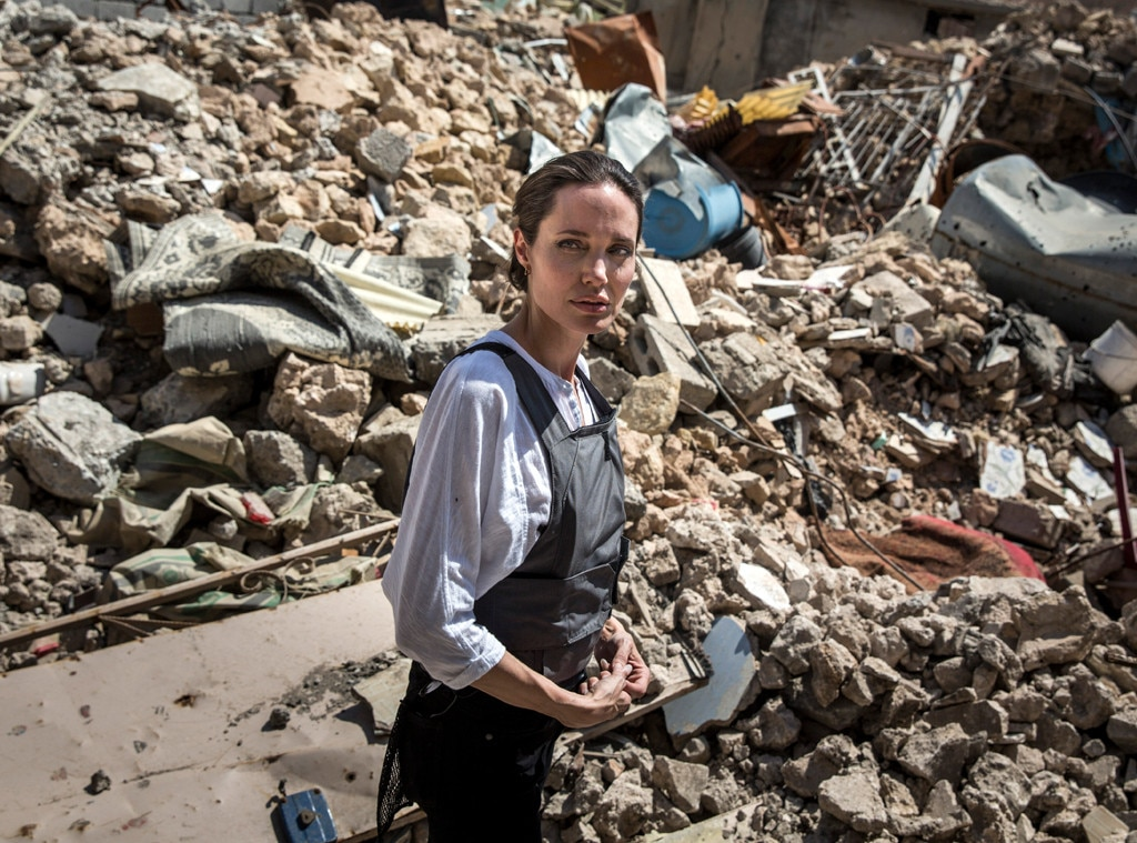 Angelina Jolie visits Mosul less than a year after liberation from ISIS